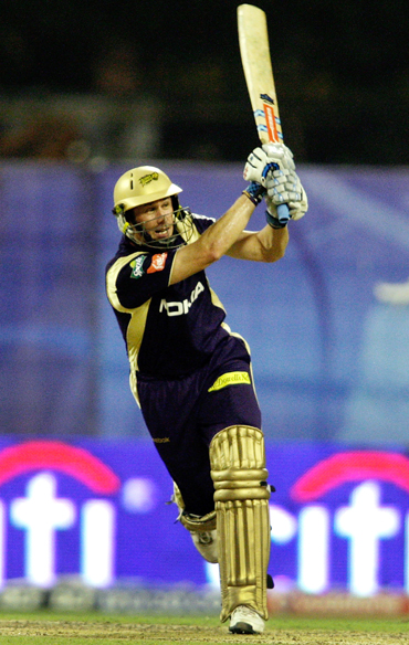 Only David Hussey managed more than the extras as Kolkata Knight Riders scampered home.