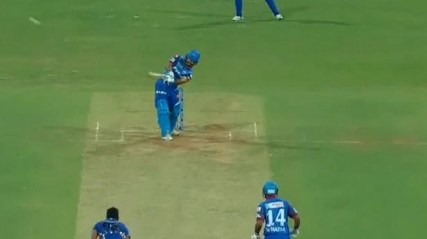 Rishabh Pant shows off his MS Dhoni like helicopter shot | Twitter